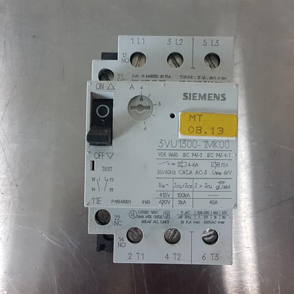SIEMENS 3VU1300-1NK00 MOTOR STARTER PROTECTOR LOT OF 2