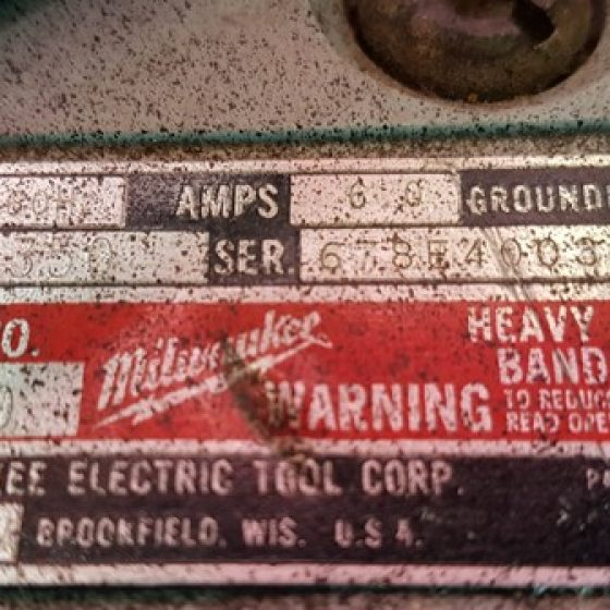 Milwaukee 6230 Portable Bandsaw - in Case