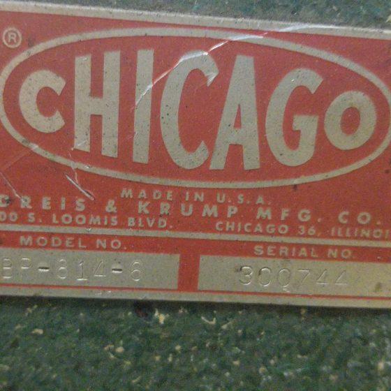 648-1 Chicago 8' Box and Pan Brake