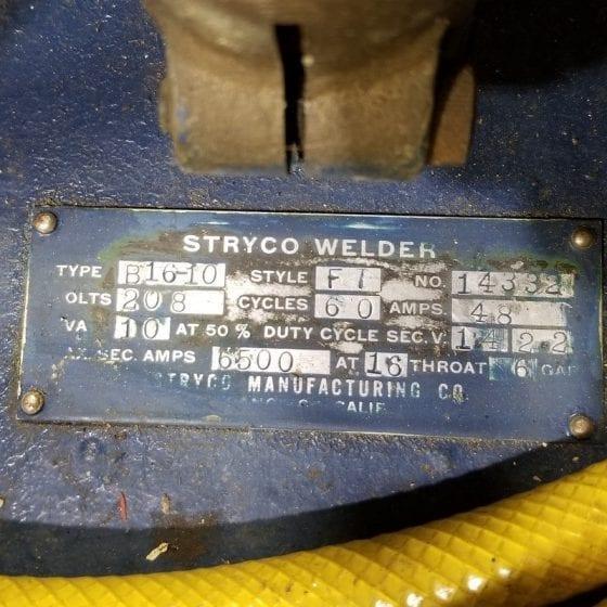 685-1 Stryco B16-10 Spot welder