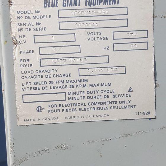 Blue Giant Scissor Lift