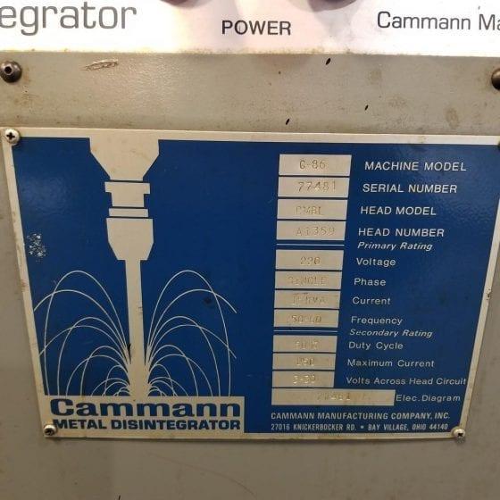 Cammann G-86 Metal Disintegrator