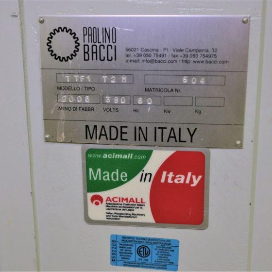 Paolini Bacci TTF1 T2M MIter Door Cutting Boring Moulding Machine