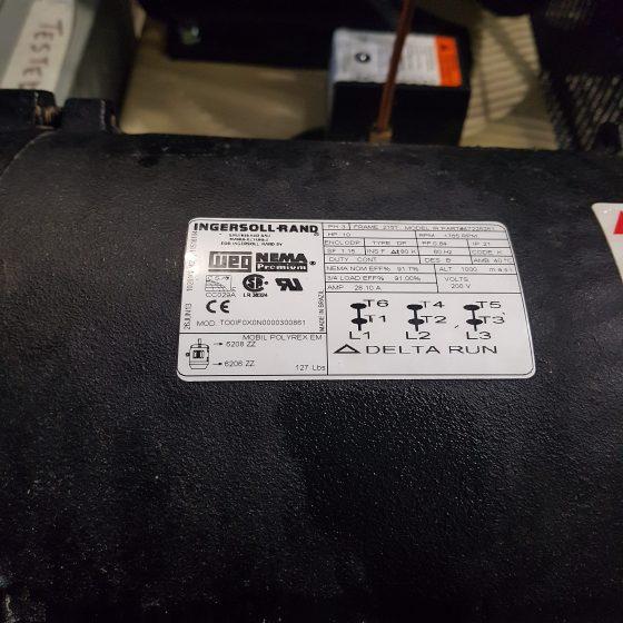 Ingersoll Rand 10 HP Piston Compressor