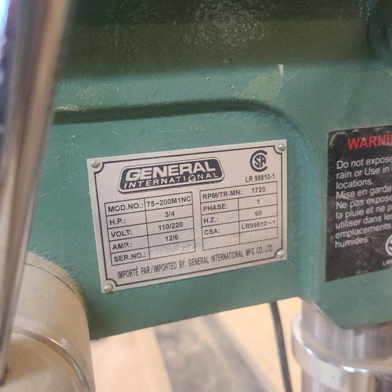 General 75-200M1NC Drill Press