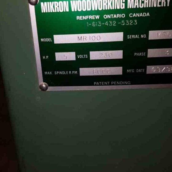 Mikron MR100 Arch Moulder