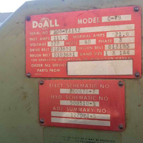 DoAll C-79 Horizontal Bandsaw