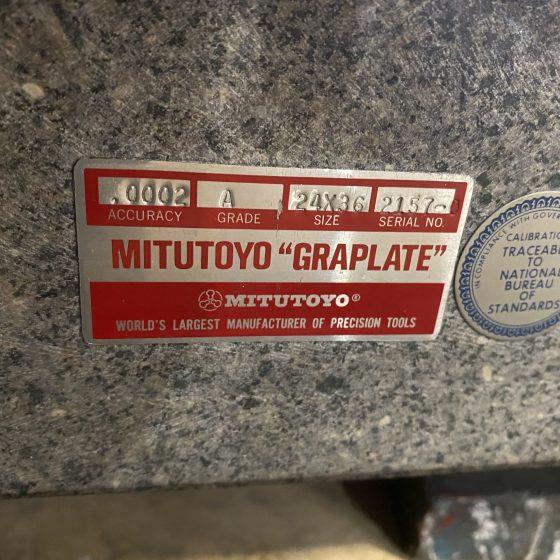 Mitutoyo 24 x 36 Graplate